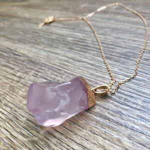 "Jewelry - ""Lady Pink"" Stone Necklace"